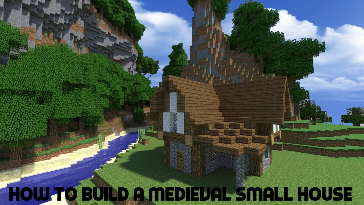 minecraft tutorial how to build a medieval small house youtube - Building A Small House
