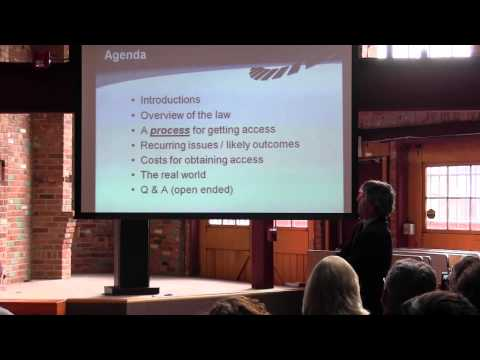 Colorado Open Records Act forum with Zansberg and Clarke, part 1