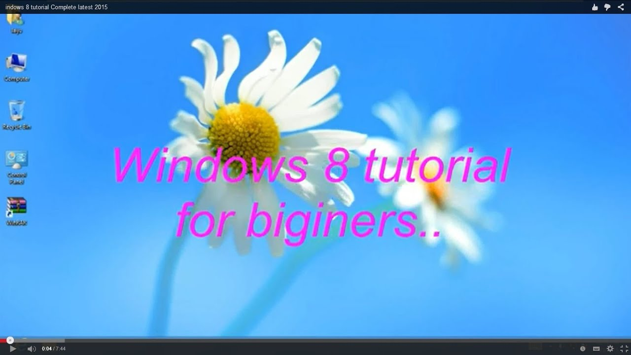 Windows 8 tutorial for beginners youtube windows 8 tutorial for beginners baditri Images
