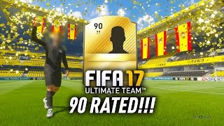 FIFA 17 100K PACKS w/ 90 RATED IN A PACK! AMAZING WALKOUTS!