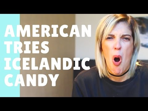 American Trying Icelandic Candy!! (DRUNK)