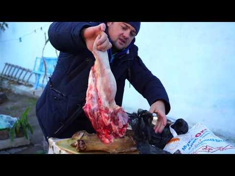 Почему узбекский холодец считается самым вкусным??!!!!Узбекистан.Холодец в казане на костре.