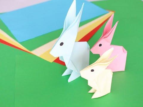 Как сделать зайчика из бумаги. Оригами  заяц. How to make a paper rabbit. Conejito de papel Origami.