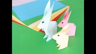 как сделать зайца из бумаги своими руками оригами Bunny paper