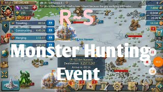 Lords Mobile - R~S Guild monster Hunting Event |  Monster Hunting event - Lords mobile