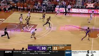 Texas falls to lsu 67-69 in the 2020 big 12/sec challenge.