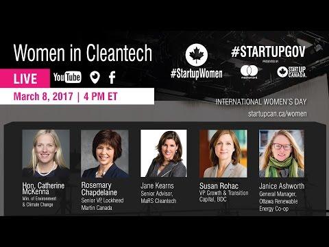 #StartupWomen   March 8, 2017   National Women in Cleantech Panel