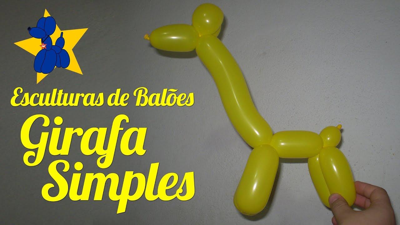 Como fazer uma girafa de balões - Simples - YouTube