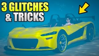 GTA 5 Online - 3 NEW GLITCHES & TRICKS (Underwater Forever, Secret Trick & Hidden Location)