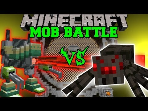 SPIDER VS MAGITEK ARMOR - Minecraft Mod Battle - Mob battles - Magitek Mechs Final Fantasy Mod