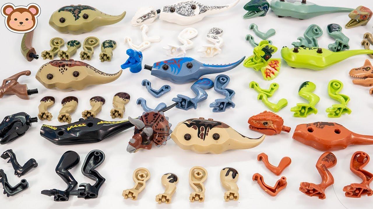 Dinosaurs Assmebly Toys for Kids, Triceratops, Parasaurolophus, T-Rex, Diplodocus, Velociraptor