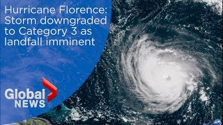 Hurricane Florence: Storm downgraded to Category 3 as landfall imminent