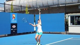 Maria Sharapova - Slow Motion Serving in High Definition