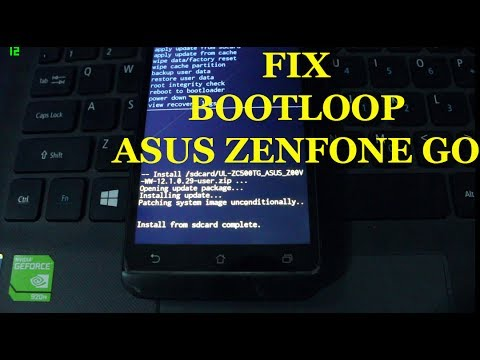 How To Flash Upgrade Asus Zenfone Go Z00vd Fix Bootloop Frimware