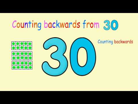 Counting Backwards from 30 (New version)