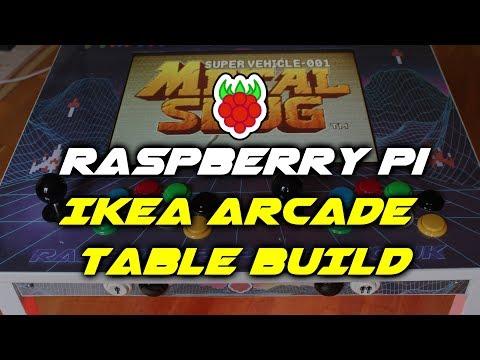 Raspberry Pi IKEA Retro Arcade Table Build