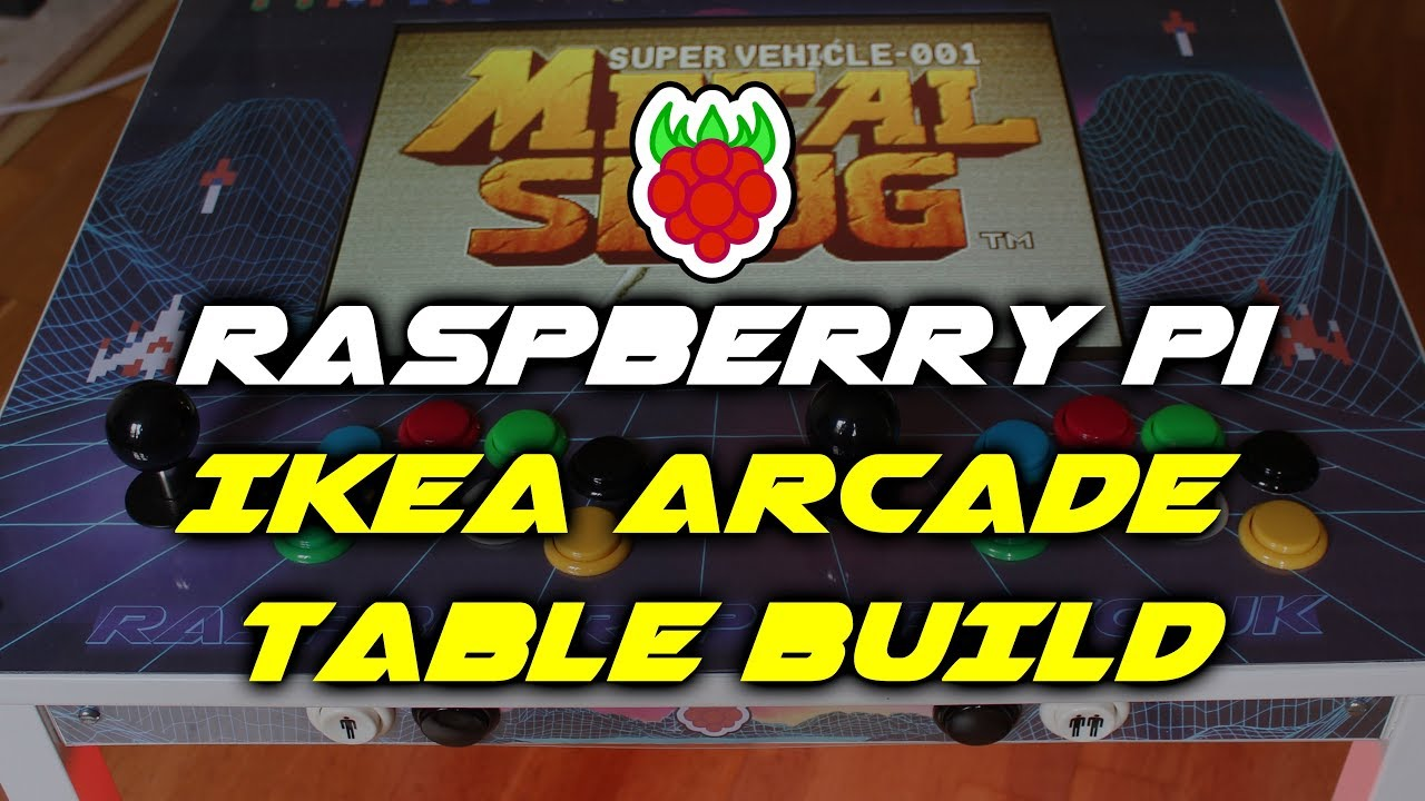 Raspberry Pi Ikea Retro Arcade Gaming Table Build