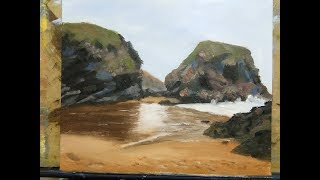 Sea and Rocks  - Oily Painting #9