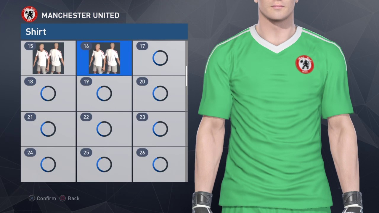 ff6561091 PES2017 PES2018 Kit Editing XBOXONE 360 - MANCHESTER UNITED Goalkeeper Kit