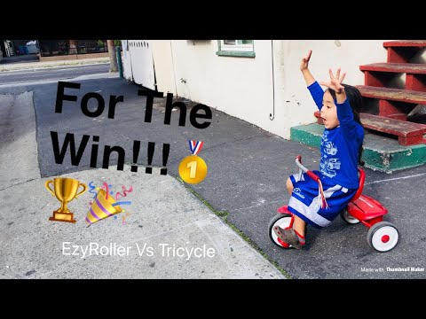 Gordo For The Win|Racing EzyRoller Vs Tricycle