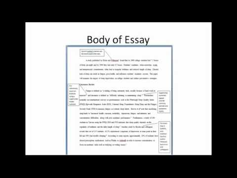 apa essay reference list