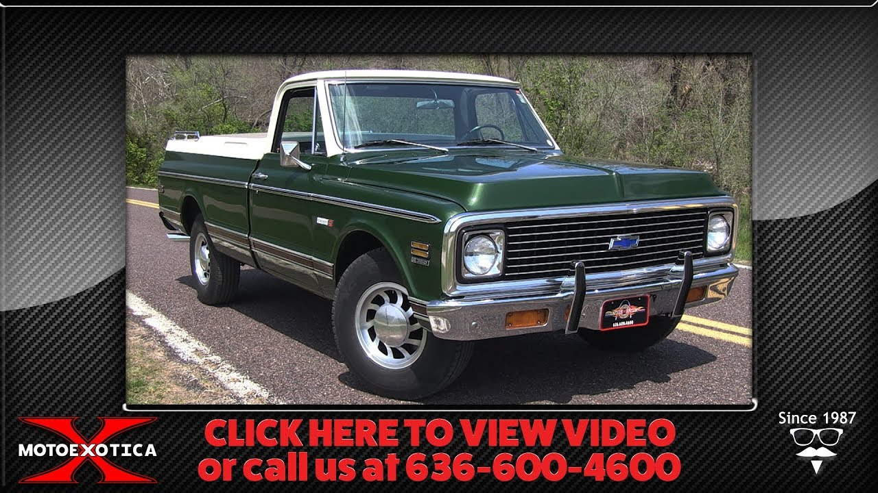 1971 chevrolet c20 fleetside pickup for sale [ 1280 x 720 Pixel ]