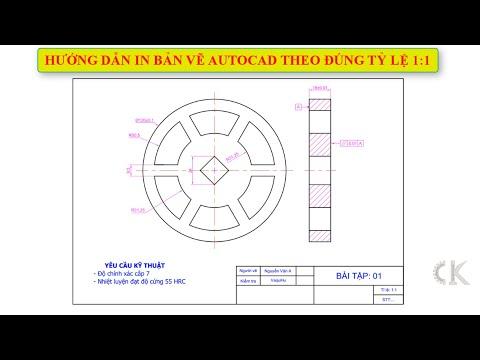 Hướng dẫn in bản vẽ Autocad theo đúng tỷ lệ 1:1