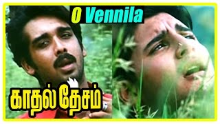 Kadhal Desam Tamil movie | scenes | O Vennila song | Vineeth and Abbas part ways | Vadivelu