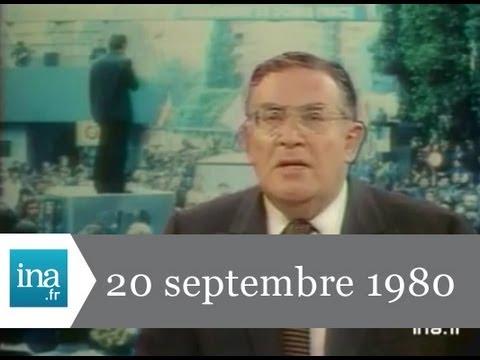 JT Antenne 2 20H : EMISSION DU 20 SEPTEMBRE 1980 - archive vidéo INA