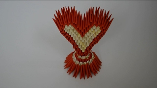 3D Сердце Оригами