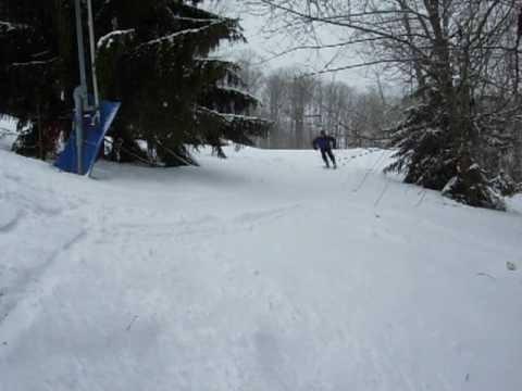 Snowboarding in Ellicottville, New York at Holiday...