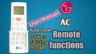 LG AC remote control Manual / LG AC remote control kaise chalaye /how to use LG ac remote control