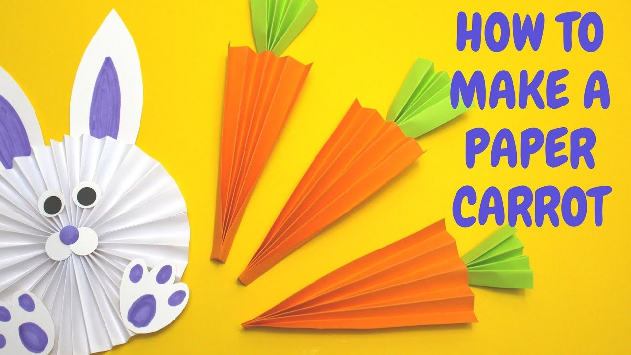 How To Make A Paper Carrot Easter Craft Ideas Youtube