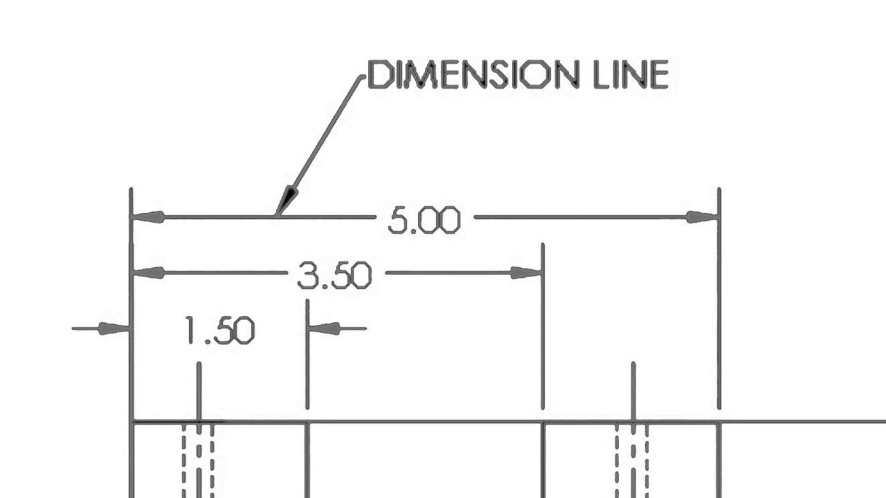 Drawing Lines Engineering : Dimension lines youtube