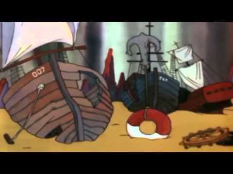 В море ветер в море буря мультфильм смотреть