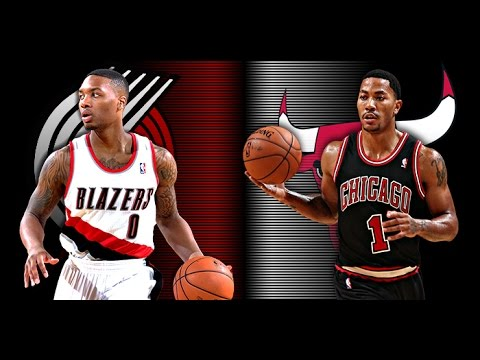 fdbddf3ca0b3 Derrick Rose vs Damian Lillard Highlightsᴴᴰ (12.12.14) - YouTube