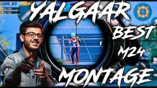 Yalgaar || MOST INSANE TDM M24 MONTAGE || PUBG BEST SNIPER MONTAGE || CarryMinati \u0026 Wily Frenzy ||