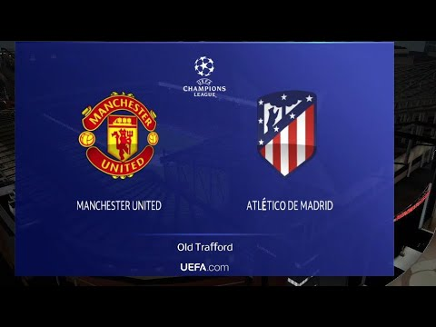 Uefa Champions League Manchester United Vs Atletico De Madrid Highlights || Uefa Knockout Round