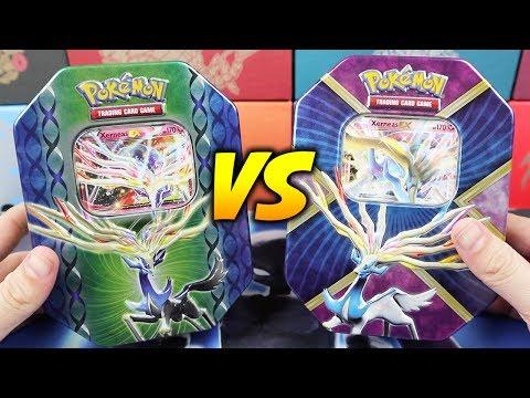 Xerneas VS Shiny Xerneas EX Pokemon Card Tins!