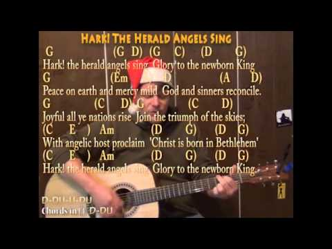 Hark! The Herald Angels Sing (Christmas) Strum Guitar Cover Lesson ...