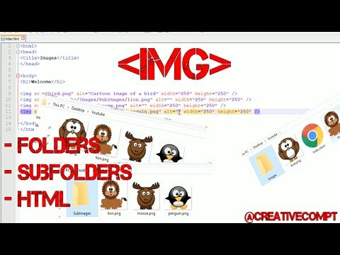 Using Images In HTML With Folders & Subfolders