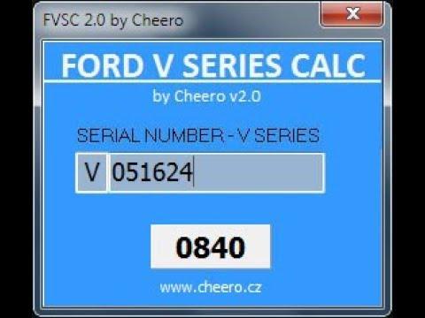 Ford Radio Code V >> Ford Radio Code V Series Calc Youtube