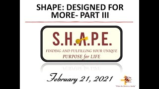 SHAPE: DESIGNED FOR MORE PART III