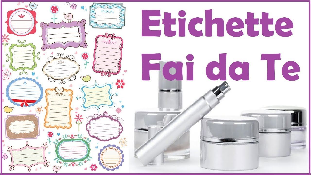 Come fare le etichette diy labels youtube for Programma per disegnare cucine gratis