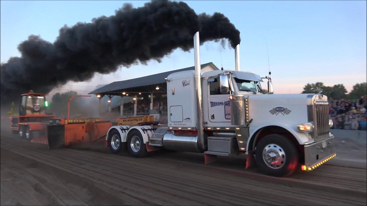 Semi Truck Pulls @ Ormstown 2018 by ASTTQ 4K