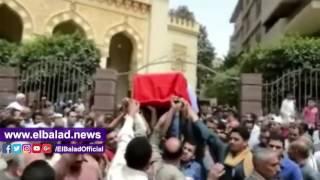 محافظ بني سويف ومدير الأمن يتقدمان مشيعي  شهيد 'العريش'..فيديو وصور
