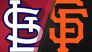 Cards score six in 9th to beat Giants, 11-6: 9/1/17