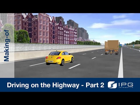 Making-of: CarMaker – Driving on the highway – Part 2/4