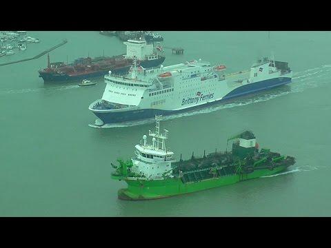 Brittany Ferries - Baie de Seine leaving Portsmouth