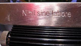 ЛАЗЕРНО-ВОДЯНАЯ ГРАВИРОВКА НЕРЖАВЕЮЩЕЙ СТАЛИ / LASER-ENGRAVED WATER STAINLESS STEEL(Я продемонстрировал простейшую технологию гравирования стали. Эта технология значительно проще лазерно-у..., 2016-07-06T10:11:26.000Z)